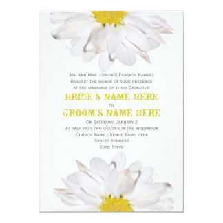 Gänseblümchen-Hochzeits-Einladung - von den Eltern 12,7 X 17,8 Cm Einladungskarte
