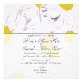 Gänseblümchen-Hochzeits-Einladung - zusammen mit Quadratische 13,3 Cm Einladungskarte