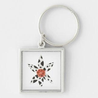 Gänseblümchen-Kuh-Prämien-Schlüsselring Schlüsselanhänger