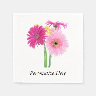 Gänseblümchen-Rosa Papierserviette