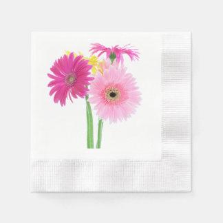 Gänseblümchen-Rosa Serviette