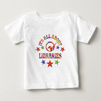 Ganz über Bibliotheken Baby T-shirt