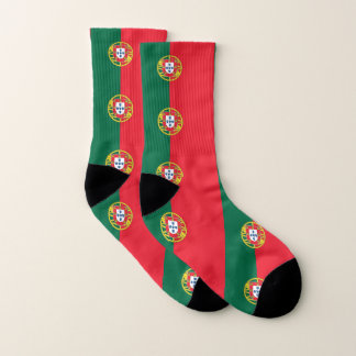 Ganz über Druck-Socken mit Flagge von Portugal Socken