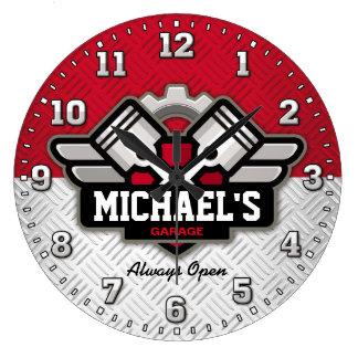 Garage bearbeitet Mann-Höhle Personalizable Uhren