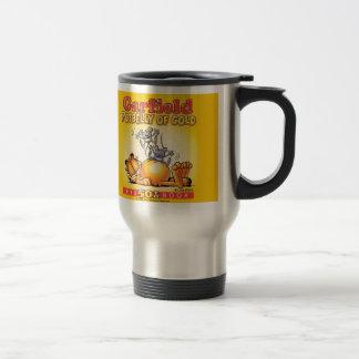 Garfield-Dickbauch der Goldreise-Tasse Edelstahl Thermotasse