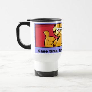 Garfield Logobox sind mit mir Reise-Tasse einverst Edelstahl Thermotasse