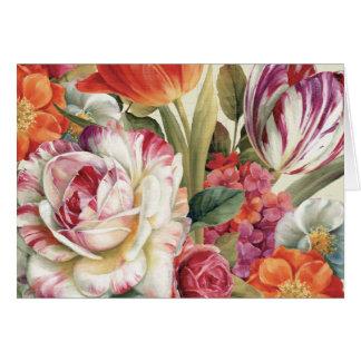 Garten-Ansicht warf Blumen Grußkarte