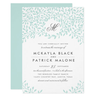 Garten-Hochzeit laden - Minze ein Karte