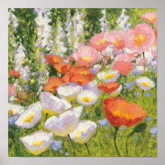 Garten-Pastelle Poster