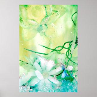 Garten-Sammlungsplakat des Titanias Poster