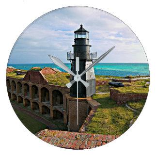 Garten-Schlüsselleuchtturm, trockenes Tortugas Große Wanduhr