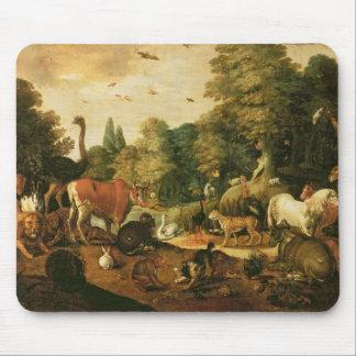 Garten von Eden (Öl auf Leinwand) Mousepads