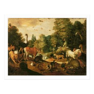 Garten von Eden (Öl auf Leinwand) Postkarte
