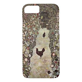 Garten-Weg mit Hühner ~ Gustav Klimt iPhone 8/7 Hülle