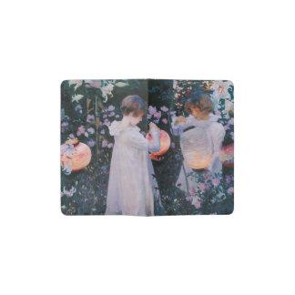 Gartennelke, Lilie, Lilie, Rose durch John-Sänger Moleskine Taschennotizbuch