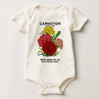 Gartennelken-Vintages Samen-Paket Baby Strampler