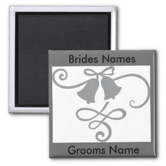 Gastgeschenk Hochzeits-Magnet Quadratischer Magnet