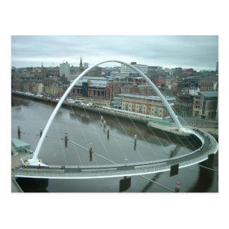 Gateshead-Jahrtausend-Brücke Postkarte
