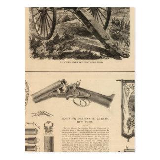 Gatling Gewehr-Firma Schuyler, Hartley und Graham Postkarte