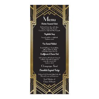 Gatsby Menü-Hochzeits-Empfangszwanziger jahre 10,2 X 23,5 Cm Einladungskarte