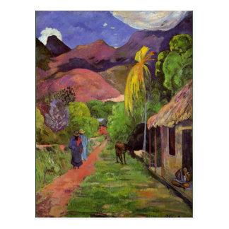 Gaugin - Straße in Tahiti Postkarten