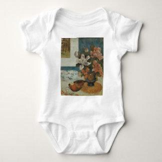 Gauguin Mandoline und Blumen Babybody