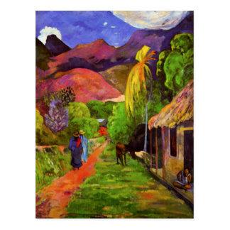 Gauguin Straße in Tahiti-Postkarte Postkarte