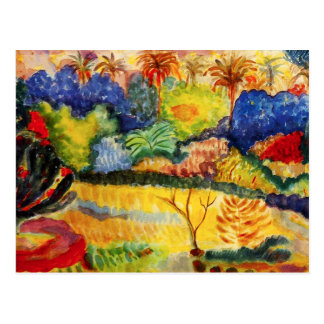 Gauguin Tahitian Landschaftspostkarte Postkarten