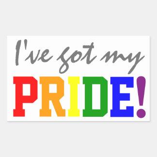 Gay Pride erhielt meinen Stolz Rechteckiger Aufkleber