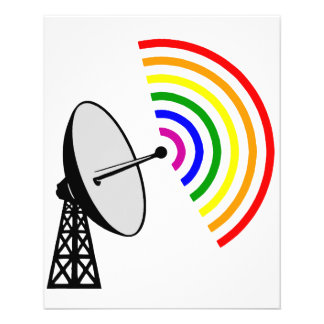 Gaydar homosexuelles Radar Regenbogen-LGBT 11,4 X 14,2 Cm Flyer