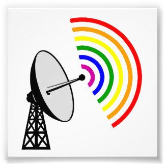 Gaydar homosexuelles Radar Regenbogen-LGBT Fotodrucke