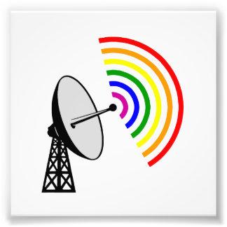 Gaydar homosexuelles Regenbogen-Radar Kunstfoto