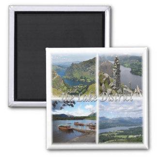 GB * Der See Bezirks-Nationalpark Englands - Quadratischer Magnet