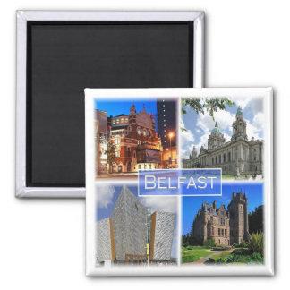 GB * Nordirland - Belfast Quadratischer Magnet