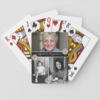 Gealtert dem Foto zur Perfektions-3 Pokerkarten
