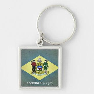 Gealterte Delaware-Flagge Schlüsselanhänger