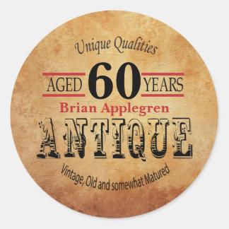 Gealterter, antiker und Vintager Runder Aufkleber