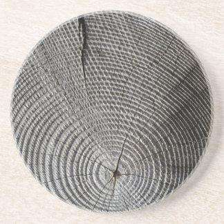 Gealterter Baum-Stumpf - Sandstein Untersetzer
