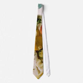 Gebackenes Fisch-Abendessen Krawatten