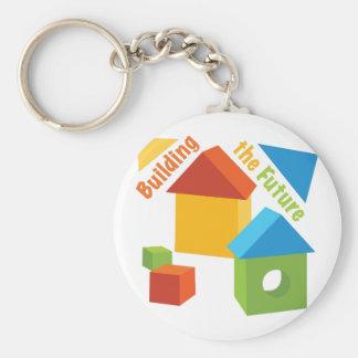 Gebäude die Zukunft Standard Runder Schlüsselanhänger