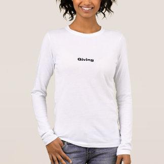 Geben Langarm T-Shirt