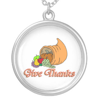 Geben Sie Dank-Fülle Versilberte Kette