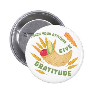 Geben Sie Dankbarkeit Runder Button 5,1 Cm