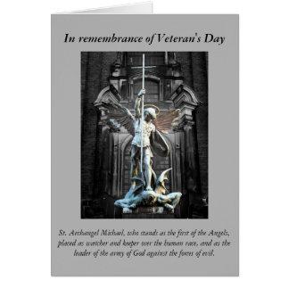 Gebet des Veterans Tages Karte