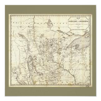 Gebiet von Minnesota-Karte (1849) Karte