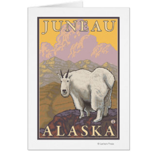 Gebirgsziege - Juneau, Alaska Karte