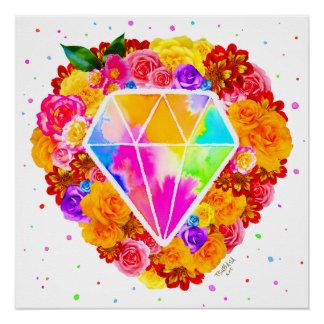 Geblühter Diamant Poster