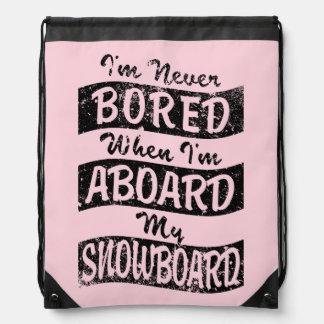 Gebohrt nie AN BORD meines SNOWBOARD (Schwarzes) Sportbeutel