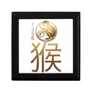 Geboren in Affe-Jahr 1956 - chinesische Astrologie Kleine Quadratische Schatulle