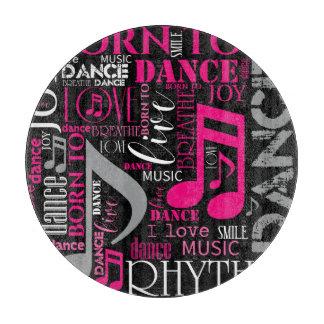 Geboren, rosa ID277 zu tanzen Schneidebrett